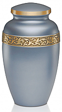 Silver Blue Adult Brass Cremation Urn