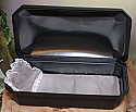 "At Peace Small 18"" Black/Silver Pet Casket"