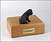 Shar Pei, Black Laying Dog Figurine Urn