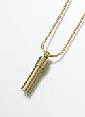 Brass Cylinder Keepsake Cremation Urn