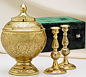 Brass Memorial Urn Set