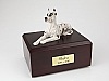 Great Dane, Harlequin Dog Figurine Cremation Urn