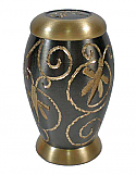 Spring Dragonfly Brass Keepsake Cremation Urn