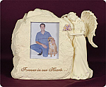 Stone Picture Frame With Angel Urn