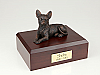 Chihuahua, Bronze Laying Dog Figurine Cremation Urn