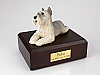 Schnauzer, Grey Black Nose Dog Figurine Cremation Urn