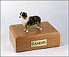 Australian Shepherd, Red/Brn/W Standing Dog Figurine Cremation Urn