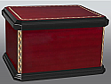 Lacquered Wood Chest Style Cremation Urn
