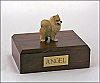 Pomeranian, Red Dog Figurine Cremation Urn