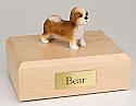 Shih Tzu, Tan, Puppycut Dog Figurine Cremation Urn