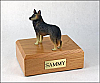 Belgian Tervuren Black Standing Dog Figurine Cremation Urn
