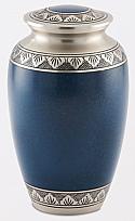 Mediterranean Blue Brass Cremation Urn