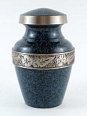 Blue Stone Brass Keepsake Cremation Urn