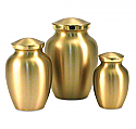 Small Classic Brass Cremation Urns