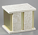 Companion (Double) Perlato Marble Cremation Urn with Trim