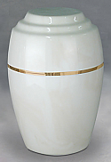 Serenity White Cultured Marble Cremation Urn