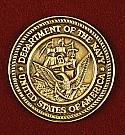 US Navy Bronze Medallion Urn Applique
