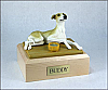 Greyhound, Tan Dog Figurine Cremation Urn