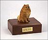 Pomeranian Sitting Dog Figurine Cremation Urn