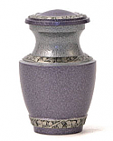 Soft Lilac Brass Keepsake Cremation Urn
