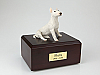 Bull Terrier White Dog Figurine Urn