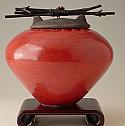 Akain Raku Ceramic Cremation Urn