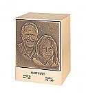 Bronze Lasting Memories Companion Urn Portrait