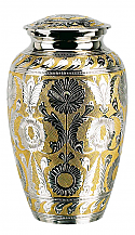 Medium SilverGold Brass Cremation Urn