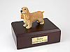 English Cocker, Blond  Dog Figurine Urn