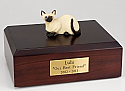 Siamese Cat Figurine Cremation Urn