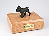 Schnauzer, Black Standing Dog Figurine Cremation Urn
