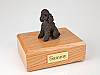 Poodle, Chocolate - sport cut  Dog Figurine Cremation Urn