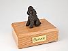 Poodle, Chocolate - sport cut  Dog Figurine Cremation Urn