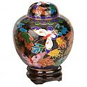 Butterfly Garden Cloisonne Keepsake Cremation Urn