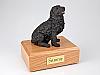 Newfoundland, Black Dog Figurine Cremation Urn
