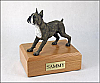 Boxer, Brindle - ears up Black - White Standing Dog Figurine Cremation Urn