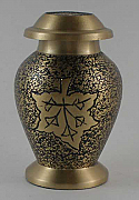 Falling Leaves Brass Keepsake Cremation Urn