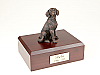Beagle Bronze Sitting Dog Figurine Cremation Urn
