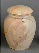 Teak Stonewood Small Cremation Urn