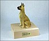 Great Dane, Fawn Dog Figurine Cremation Urn