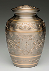 Medium Platinum and Gold Cremation Urn