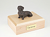 Dachshund, Bronze  Dog Figurine Cremation Urn