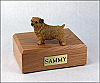 Norfolk Terrier Dog Figurine Cremation Urn