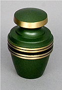 Laurel Green Brass Keepsake Cremation Urn