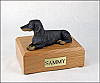 Dachshund, Black-Red laying  Dog Figurine Urn