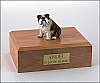 Bulldog  Brindle Sitting Dog Figurine Cremation Urn