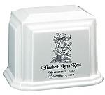 Medium Garden Angel Cultured Granite Cremation Urn
