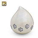 Lovedrop Pet Cremation Urn Pearl