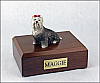 Yorkshire Terrier, Gray Dog Figurine Cremation Urn