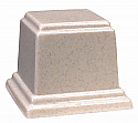 Medium Square Cultured Granite Cremation Urn